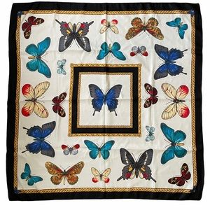 Italian Butterfly Large Square Scarf Wrap Shawl